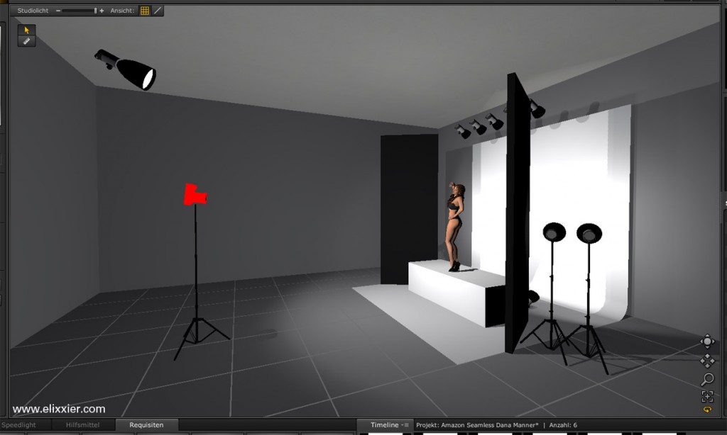 3D rendering of Amazon Light setup Front Right View