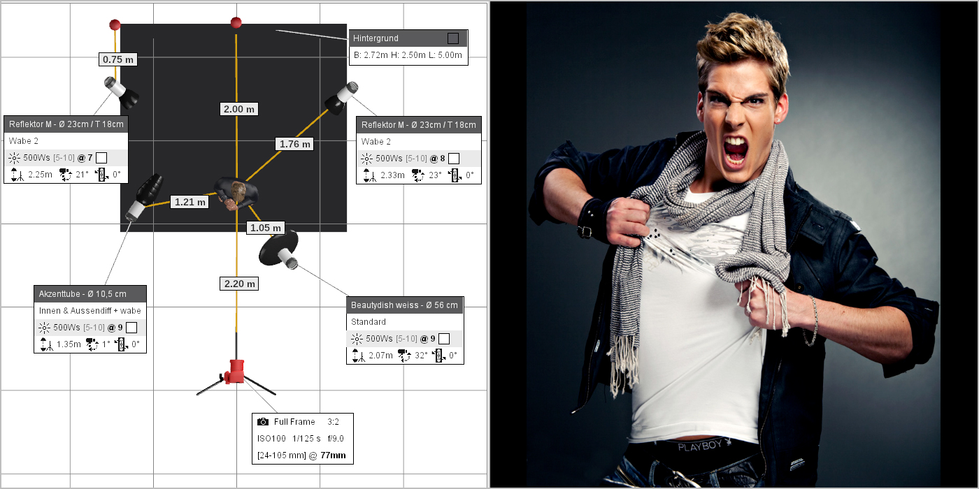 Effective Portrait Lighting Setup With 4 Flash Heads How To Read Diagram Photography Paver For Own Image And Light