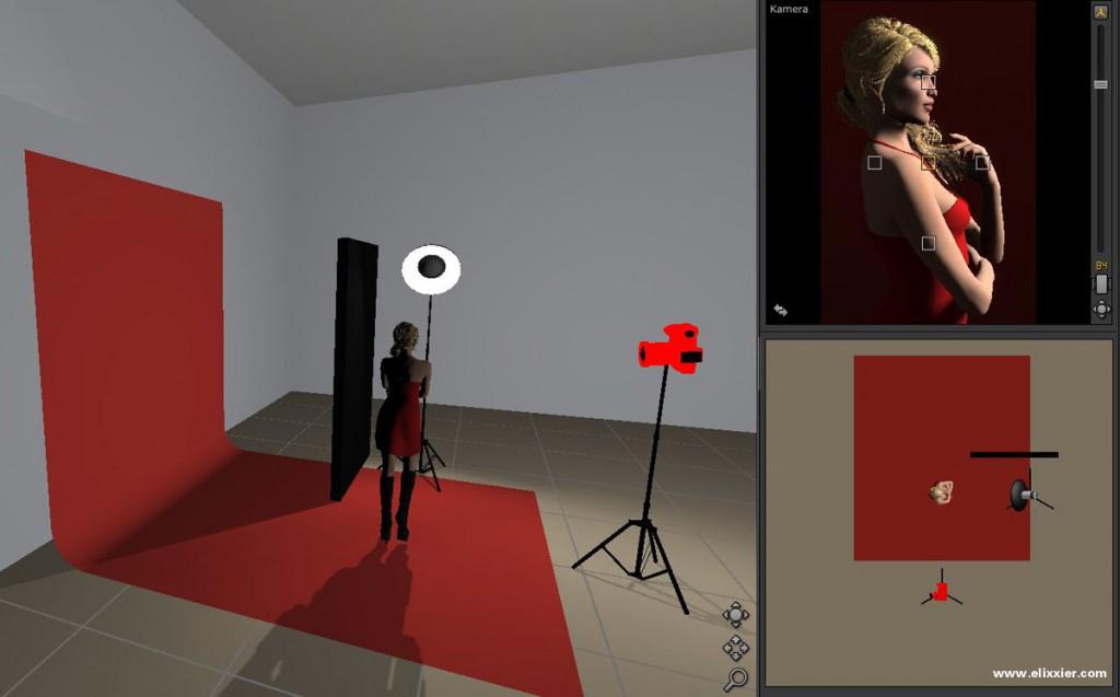 Hauptlicht mit Studioansicht, Aufbau und Ergebnis im Überblick.