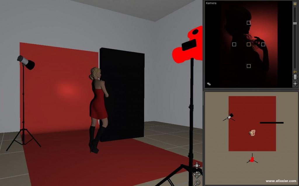 Hintergrundlicht mit Studioansicht, Aufbau und Ergebnis im Überblick.