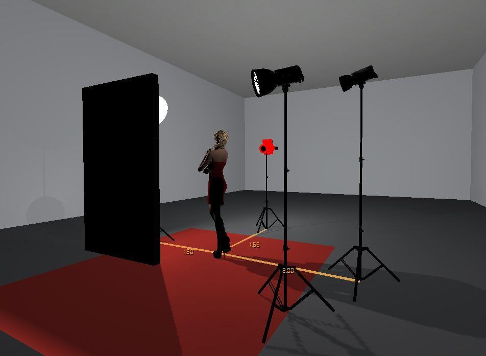 Screenshot der Studioansicht - von hinten