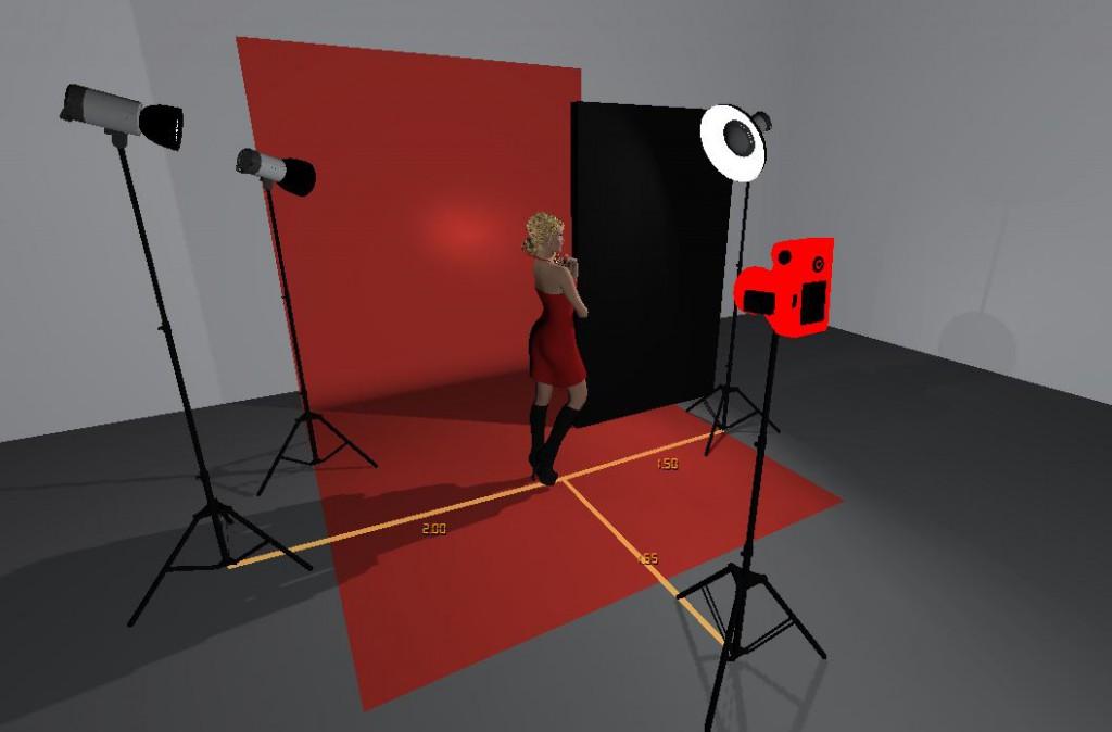 Screenshot der Studioansicht - von vorne