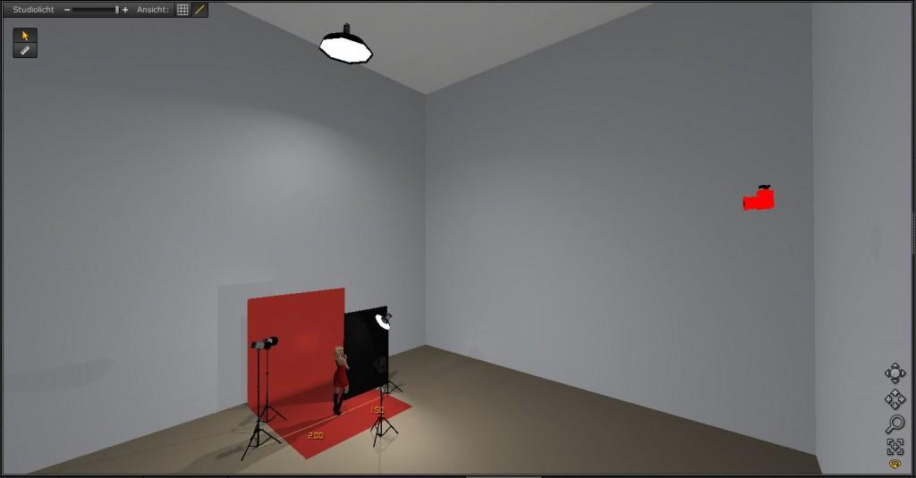 Screenshot mit der Zusatzbeleuchtung für das Rendering