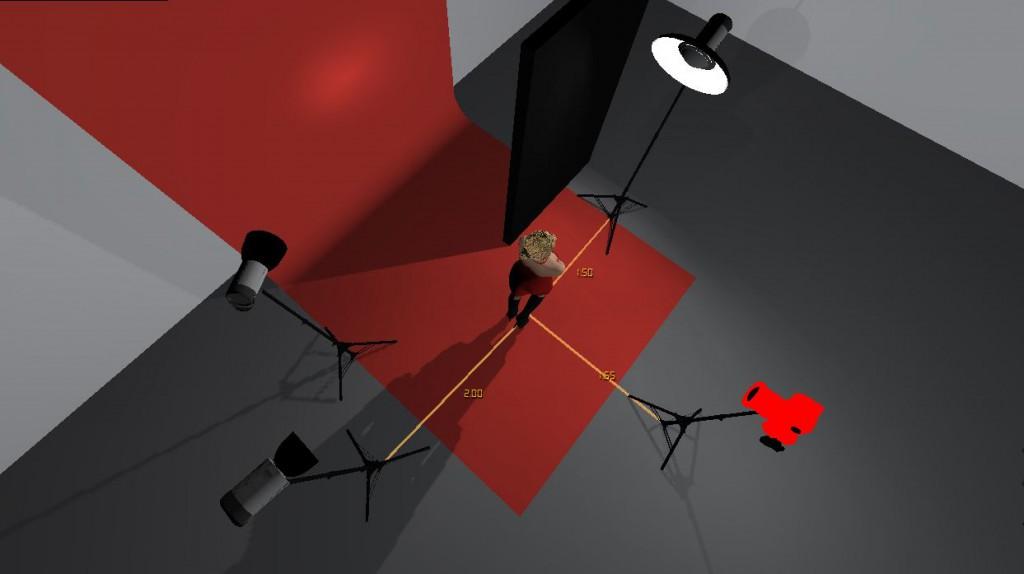 Screenshot der Studioansicht - von oben