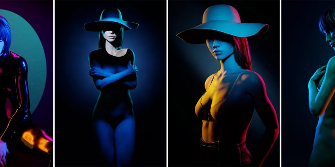 In the studio with Ron Hautau – Get creative with colored gels + Lighting Setups explained